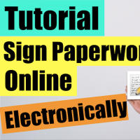 Signing papers electronically online tutorial